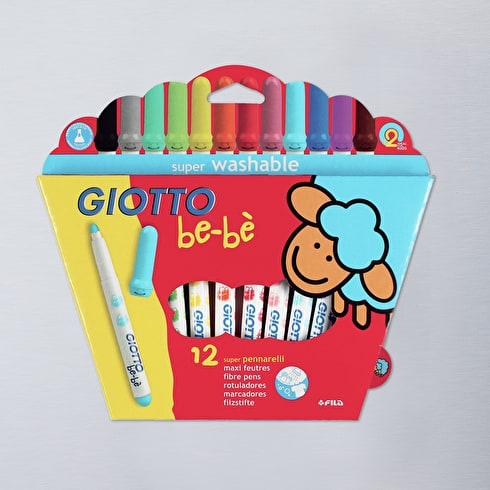 Giotto Bebe Super Fibre Pens Box Set of 12